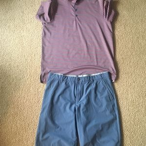 VGC Adidas Ultimate 365 3 Stripes Polo and Shorts